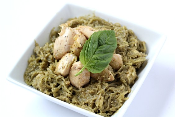 Paleo-Pesto-Spaghetti-Squash-with-Chicken