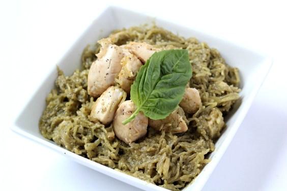 Paleo-Pesto-Spaghetti-Squash-with-Chicken