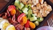 chop salad meal prep - chicken egg bacon