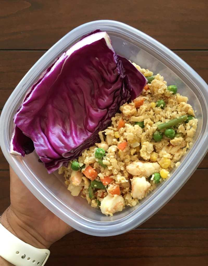 cauliflower rice meal prep