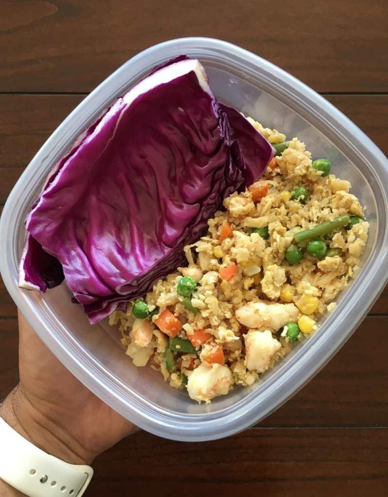 cauliflower rice meal prep
