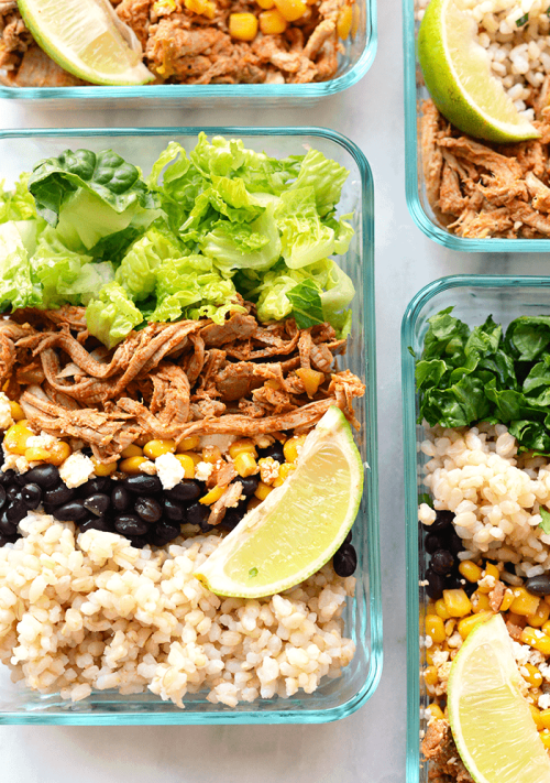 25 healthy lunches for people who hate salads updated meal prep carnitas lunch bowls forumfinder Gallery