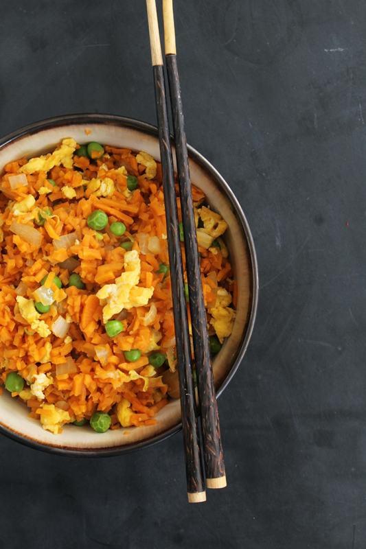 sweet potato fried rice - alternative to white rice