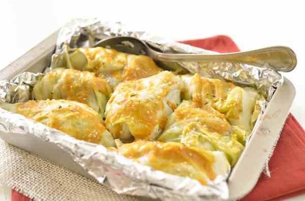 Whole30 Pumpkin Mustard Stuffed Cabbage