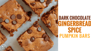 Dark Chocolate Gingerbread Spice Pumpkin Bars
