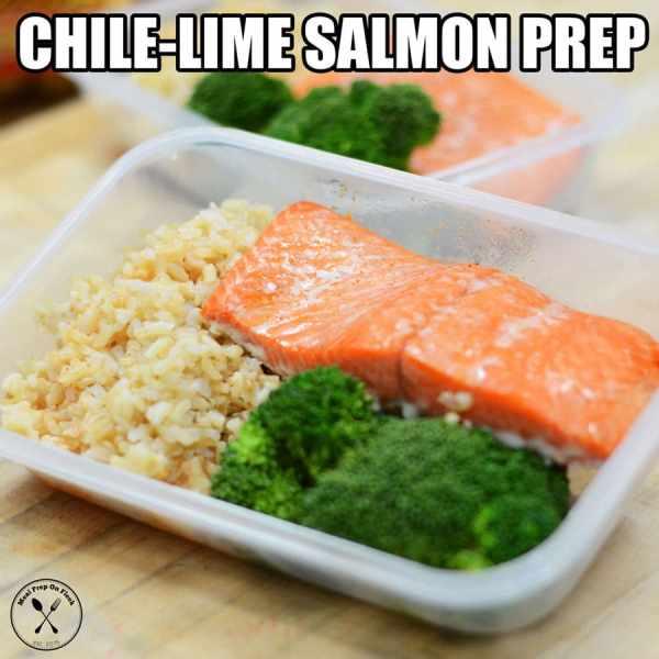 chile lime salmon meal prep