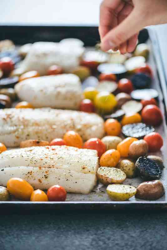 Healthy Lunch Ideas : Baked Cod and Veggies