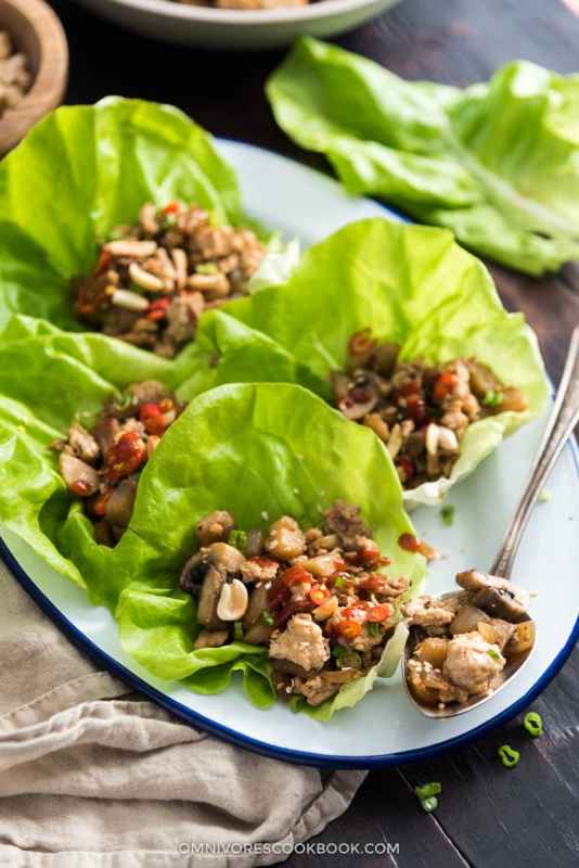foods that burn fat - lettuce cups