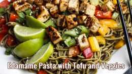 Edamame-Pasta-with-Tofu-and-Veggies recipe