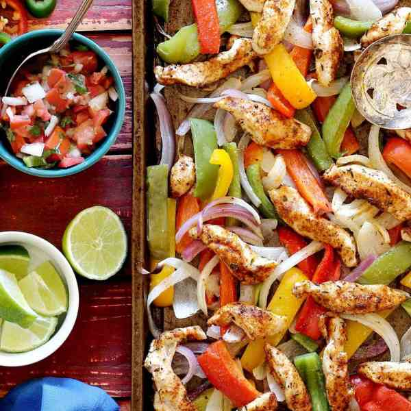 One Pan Steak Fajitas with Peppers