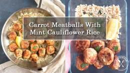 Meatballs and Cauliflower Rice