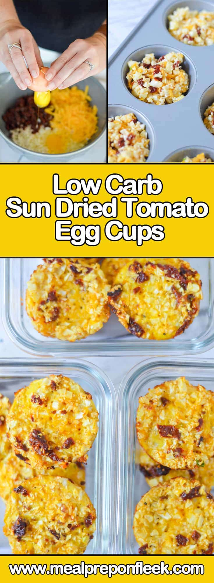 How To Make Low Carb Sun Dried Tomato Egg Cups