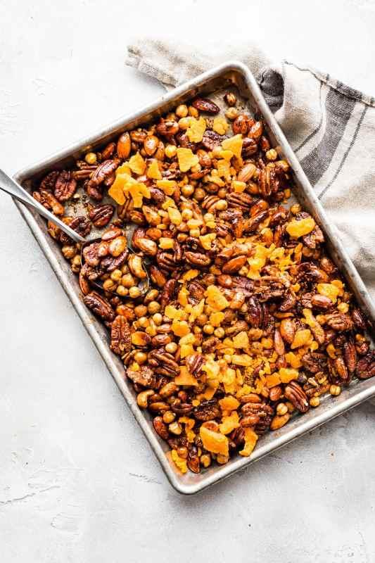 Instant Pot Candied Chickpea Cajun Trail Mix