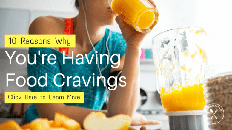 Woman with food cravings