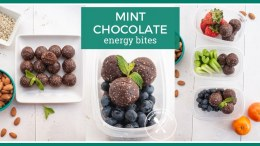 Mint Chocolate Energy Bites Meal Prep Idea