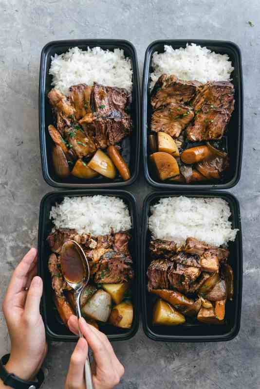 Asian Style Slow Cooker Pot Roast Meal Prep Idea