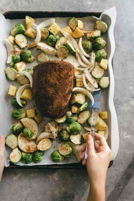 Sheet Pan Chipotle Eye Round Roast Meal Prep