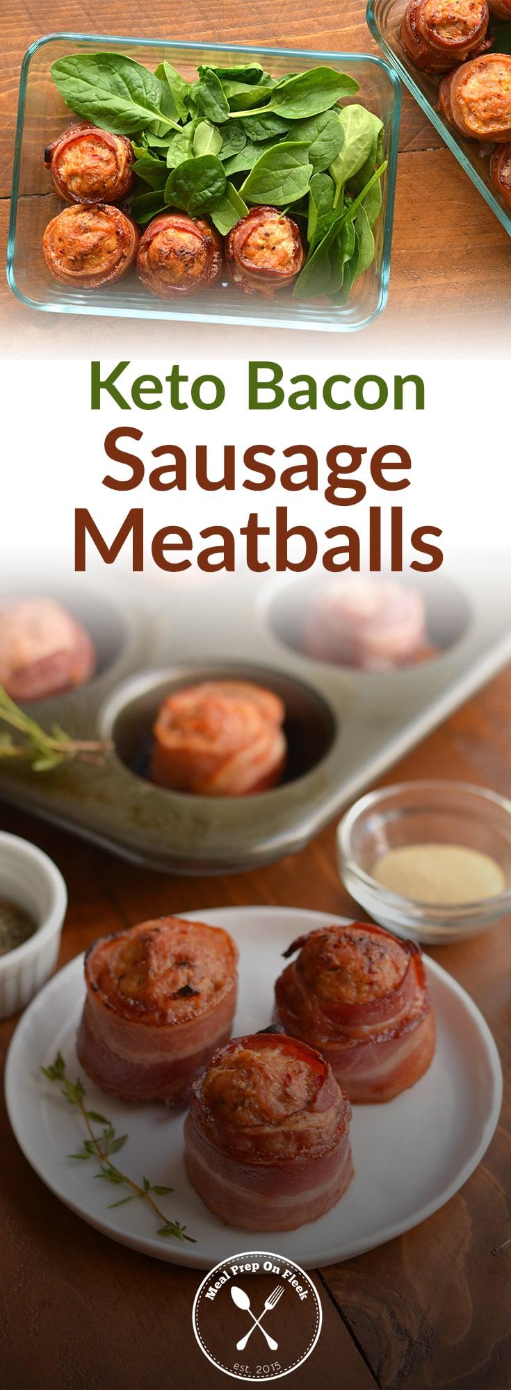 Keto Bacon Sausage Meatballs Recipe