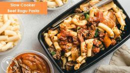 Slow Cooker Beef Ragu Pasta Meal Prep 777x431