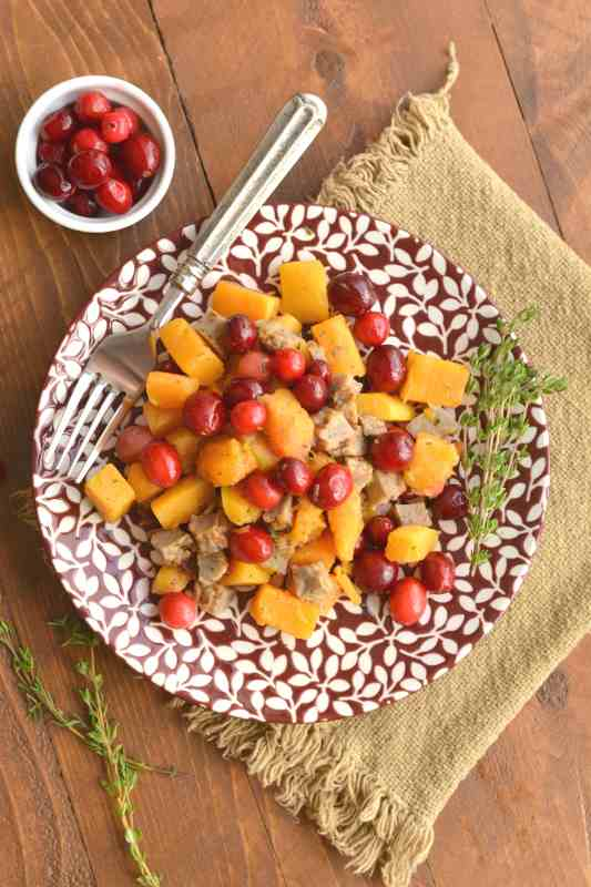 Butternut Squash and Cranberry Skillet Meal Prep