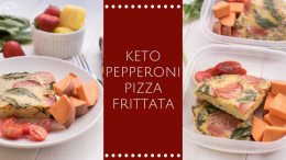Keto pepperoni pizza frittata