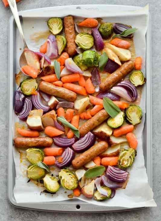 Sheet Pan Marmalade Sausage Meal Prep