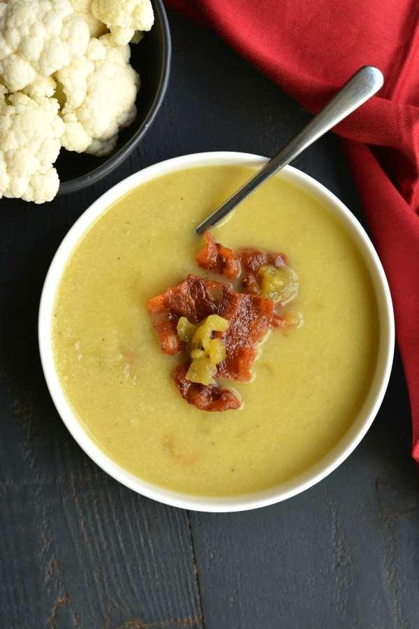 Keto Bacon Cauliflower Soup
