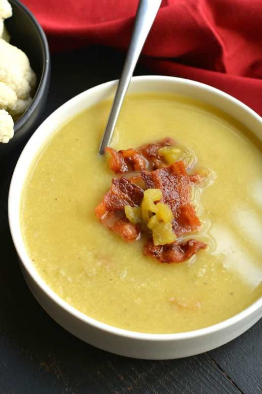 Keto Bacon Cauliflower Soup