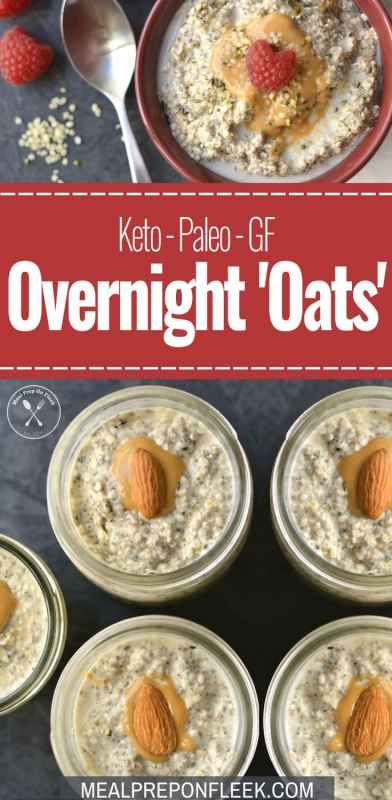 Keto Overnight Oats - Meal Prep Recipe