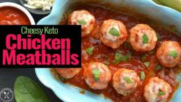 Cheesy Keto Chicken Meatballs