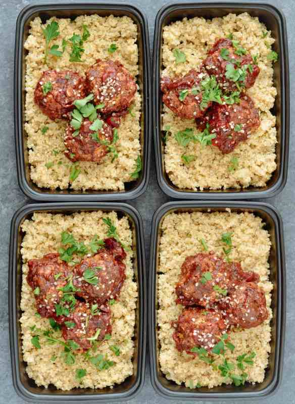Cranberry BBQ Vegan Meatballs