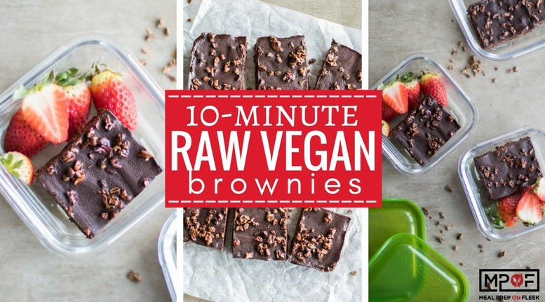 10 Minute Raw Vegan Brownies blog