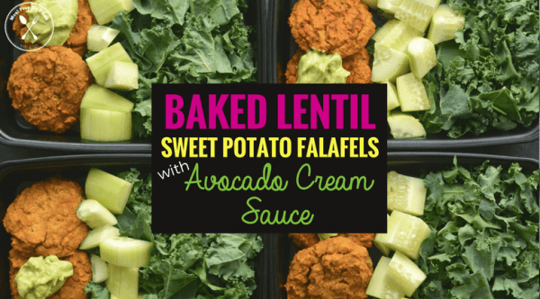 Baked Lentil Sweet Potato Falafels with Avocado Cream Sauce