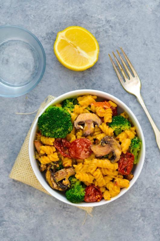 Sun Dried Tomato Broccoli & Portobello Mushroom Mac & Cheese 8