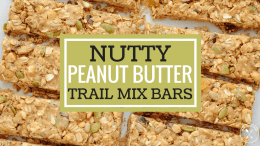 Nutty Peanut Butter Trail Mix Bars