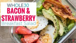 Whole30 Bacon & Strawberry Breakfast Salad