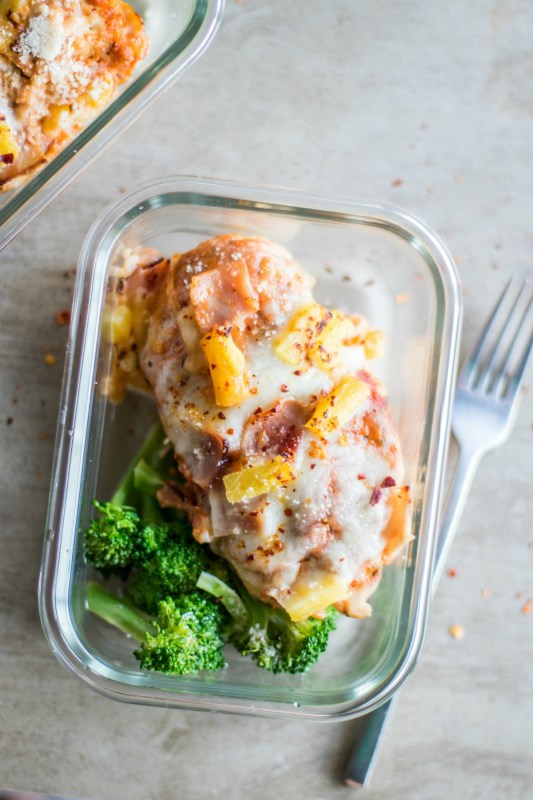 Hawaiian Pizza Chicken Meal Prep
