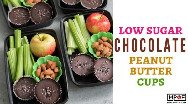 Low Sugar Chocolate Peanut Butter Cups blog
