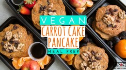(Vegan) Carrot Cake Pancake Meal Prep blog