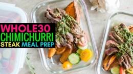 Whole30 Chimichurri Steak Meal Prep