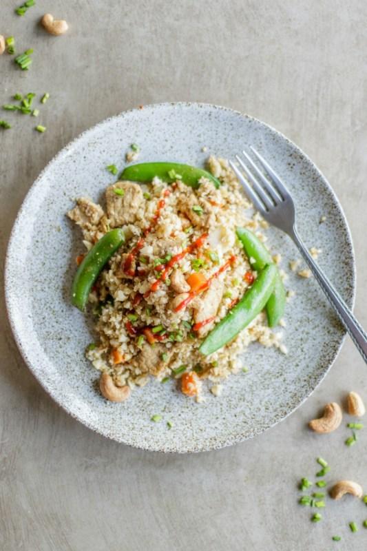 Low Carb Pork Fried Rice Meal Prep