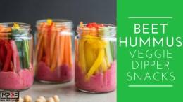 Beet Hummus Veggie Dipper Snacks