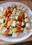 Grilled Halloumi & Summer Squash Kabob Meal Prep