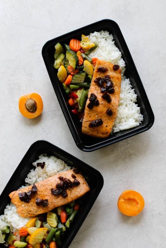 Paleo Apricot Salmon Meal Prep