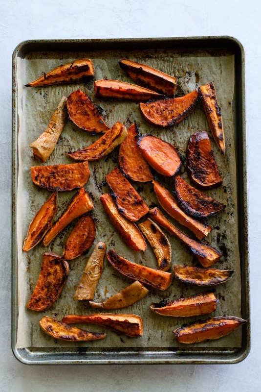 Sweet Potato Wedges With Tahini