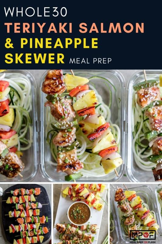 Whole30 Teriyaki Salmon & Pineapple Skewer Meal Prep blog