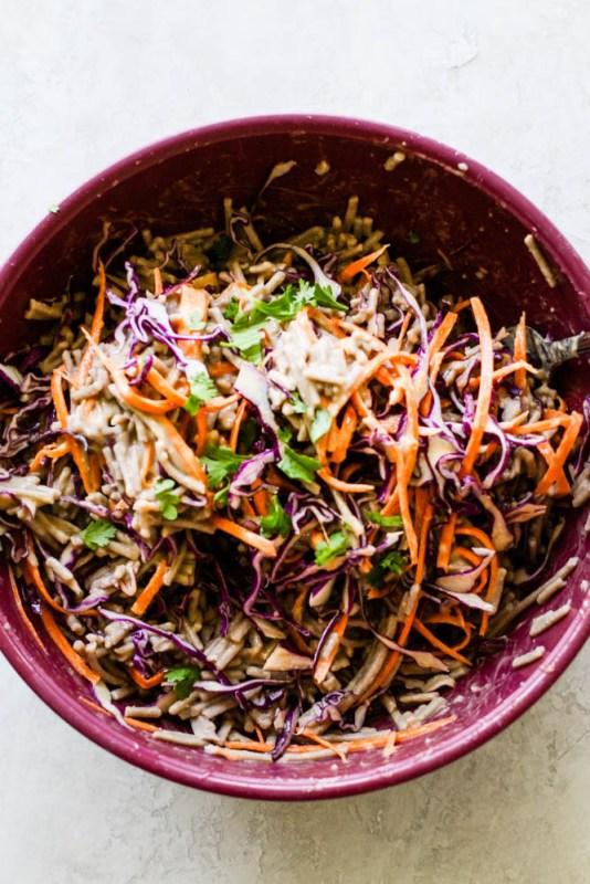 Cold Chicken Soba Noodle Meal Prep