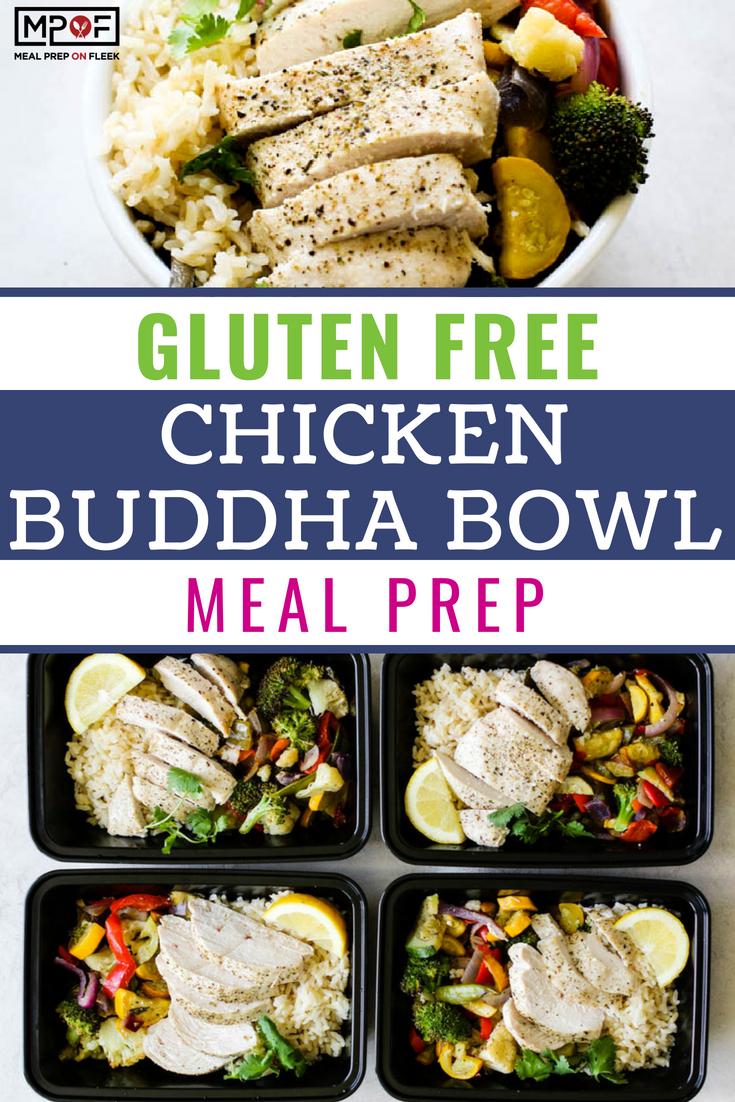 Gluten Free Chicken Buddha Bowl Meal Prep blog