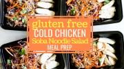 Gluten Free Cold Chicken Soba Noodle Salad Meal Prep blog