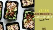 Vegan BBQ Jackfruit & Avocado Slaw Meal Prep blog